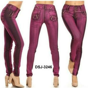 Denim - DSJ- 3246 Colombian Design Push Up Skinny Jeans.